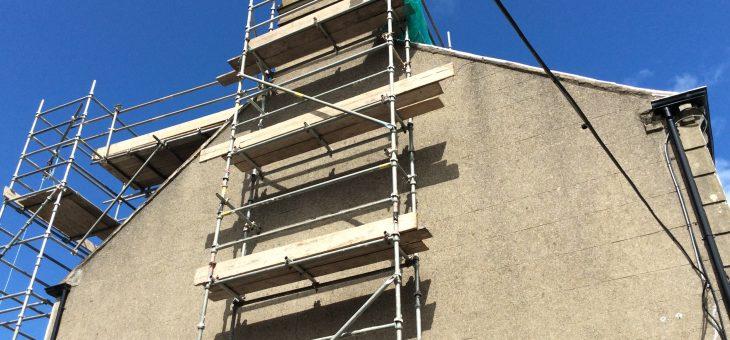 Chimney rebuild works
