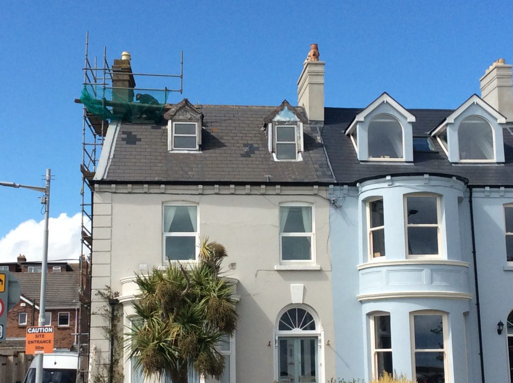 Chimney repair work to end of terrace house North Dublin city